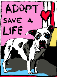 dog pictures to print. Wonderful Pictures ADOPT Save A Life Dog PrintPink  An Act Of DogMuseum  And Pictures To Print T