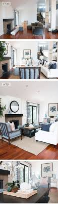 Blackband Design before and after coastal living room in Newport Beach