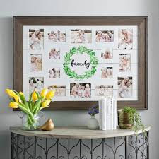 multiple picture frames family. Family Wreath Shiplap Collage Frame Multiple Picture Frames