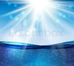 Ocean Wave Background Abstract Blue Underwater Ocean Wave Stock Vector Colourbox
