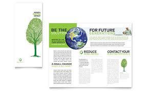 Green Brochure Template Energy Environment Templates Brochures Flyers