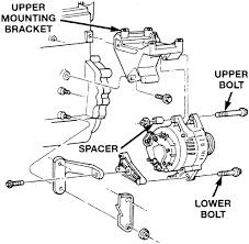 nissan datsun truck quest mini van l mfi sohc cyl alternator mounting assembly 2 5l engine