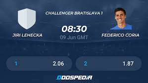 Jiri Lehecka - Federico Coria » Live Score & Stream + Odds, Stats, News