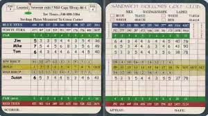 Golf Score Card Template Understanding Your Golf Score Card Youtube