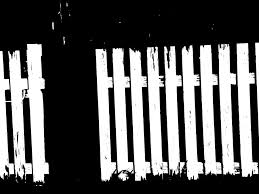 picket fence drawing. Abstract Photograph - The White Picket Fence Is Broken By Lenore Senior Drawing