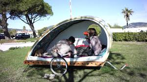 Bike Camper Trailer Foldavan Lightweight Folding Bicycle Caravan Youtube