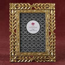 fashioncraft magnificent gold finish lattice work design 4x6 frame personalized gifts and party favors