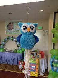 owl pull string piñata