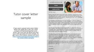 Tutor Cover Letter Ppt Tutor Cover Letter Sample Powerpoint Presentation Id