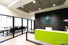 office reception area reception areas office. Awesome Office Reception Area With Custom Desk Green Accents Black Framed Glass Walls Room Wall Interior Design Areas N