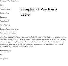 Requesting A Salary Increase Pay Rise Request Letter Requesting A Pay Raise Requires