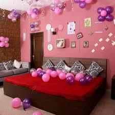 colorful balloons decor pink purple silver send gifts to hyderabad