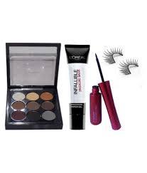 mac professional makeup 9 colors eyeshadow palette loreal primer eyeliner eyelashes makeup kit 106 gm mac professional makeup 9 colors eyeshadow
