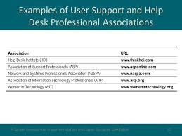 help desk professional associations user support management ppt