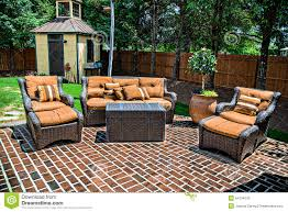 the bricks furniture. Brick Patio And Furniture. A Large Matching Outdoor Furniture Royalty Free Stock The Bricks