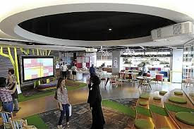 google office cafeteria. Multi-purpose: The Office Cafeteria Also Serves As A Small Amphitheatre For Meetings. Google
