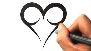 How To Draw A Simple Tribal Heart Tattoo Design 2