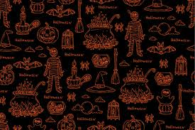 Halloween Pattern Gorgeous Pattern On The Theme Of Halloween Graphic Patterns Creative Market