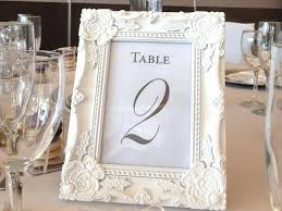 wedding table number frame table number picture frames wedding table number frame white baroque for hire