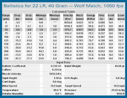 Ruger 10 22 Ballistics Chart Rimfire Tactical Precision Match Within Accurateshooter Com