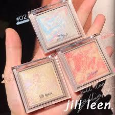 JILL LEEN <b>3 Colors Highlighter</b> Facial Bronzers Palette Makeup ...