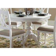 Image Extending Pedestal Shop Summer House Oyster White Round Pedestal Dining Table On Sale Free Shipping Today Overstockcom 18618011 Overstock Shop Summer House Oyster White Round Pedestal Dining Table On Sale
