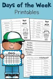 FREE Days of the Week Worksheets | school | Homeschool kindergarten ...