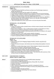 Sample Informatica Etl Developer Resume Best Of Sample Informatica Etl Developer Resume Sample Informatica Etl