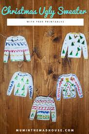 Make Your Own Sweater Design Design Your Own Christmas Ugly Sweater With Printables
