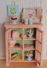 Shabby Chic Kitchens Miniature Shabby Chic Kitchen Cabinet Filled With Sweets A