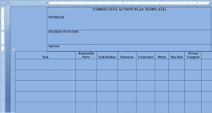 Project Management Templates Corrective Action Plan Template Word Project Management Templates