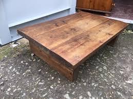 beautiful chunky solid wood coffee table