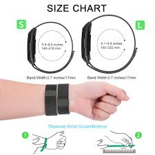 Fitbit Alta Wrist Size Chart Onedream Compatible For Fitbit Charge 3 Strap Replacement Metal Wrist Band For Women Men