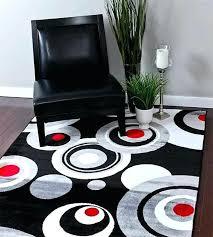 bold modern rugs black circles area rug pattern