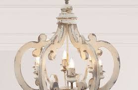 distressed wood chandelier rustic chandeliers french country within practical white 2