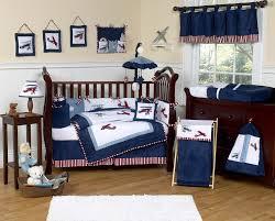 navy blue vintage airplane baby boy crib bedding set 9pc