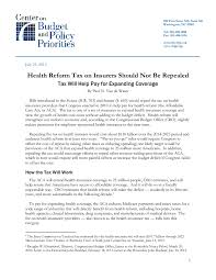 health reform tax on insurers should not be repealed center on  file type icon