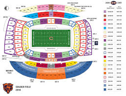 Chicago Bears Seating Chart Chicago Bears Announce Date For Single Game Ticket Sales