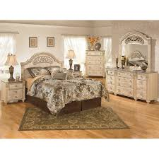 Light Wood Bedroom Furniture King Poster Bed 5 Pc Bedroom Package
