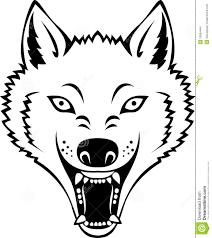 головка волка иллюстрация вектора иллюстрации насчитывающей злюще