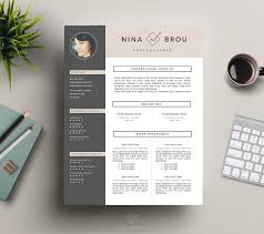 Best Resume Design Feminine Resume Design CV By This Paper Fox On Creativemarket 66