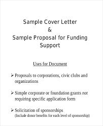 Cover Letter Sponsorship Sample Sponsorship Proposal Letter 9 Examples In Word Pdf
