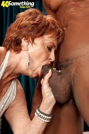 Old woman and black cock