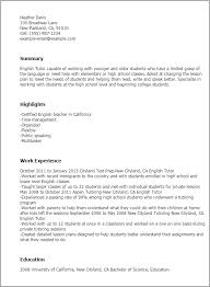 Resume Templates: English Tutor