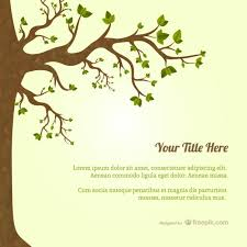 Template Tree Tree With Leaves Template Vector Free Download