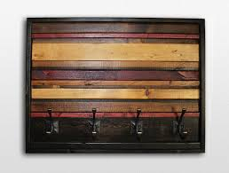 Reclaimed Wood Wall Coat Rack Modern Wood Coat Hook Horizontal Stripe Coat Hanger 100100 x 100100 34