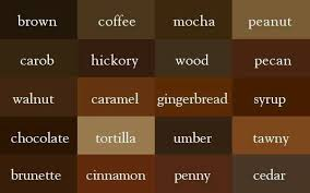 Shades Of Taupe Chart Lularoe Brown Color Chart Brown Shades Color Shades