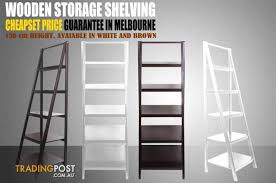 new wooden display wall rack ladder shelf book shelf french style