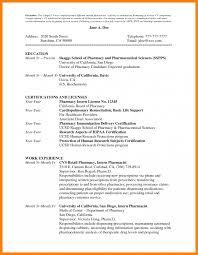Pharmacist Resume Format Pharmacy Sample Intern Examplet Cv Pictures