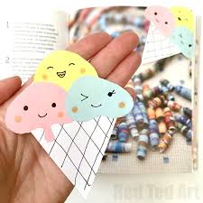 pikachu corner bookmark so easy and simple dory kawaii inspired icecream bookmark corner fun for summer